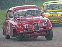 Saab historic saloon racing car